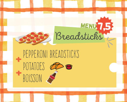 kids menu breadsticks