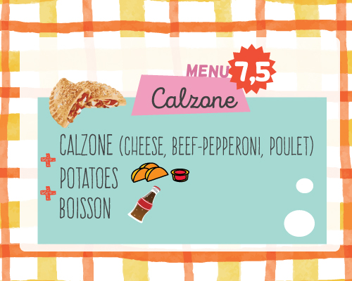 menu kids calzone