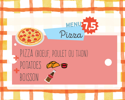 kids menu pizza
