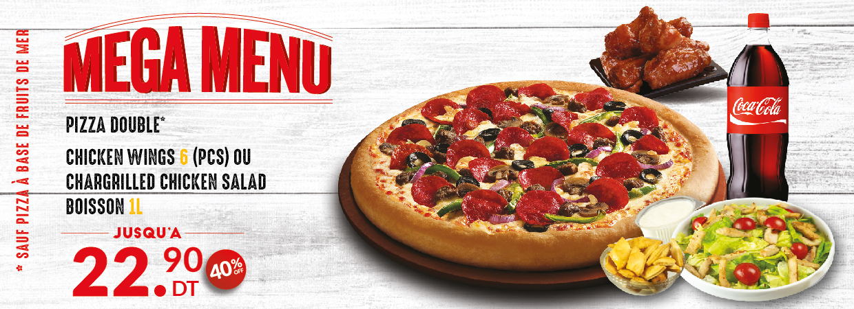 Mega Menu Pizza Hut