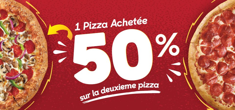 Offre buy one get 50% off